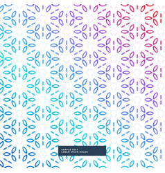 Abstract colorful flower geometric pattern vector