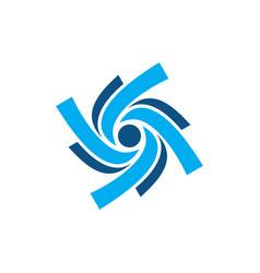abstract swirl vortex logo vector image vector image