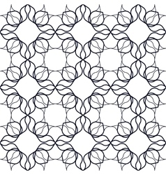 Art nouveau linear pattern vector