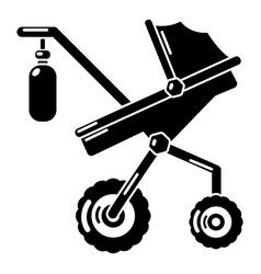 Baby carriage classy icon simple black style vector