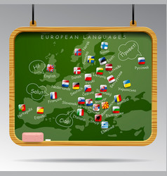 Blackboard of european languages vector