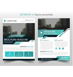 blue black technology annual report brochure vector image vector image