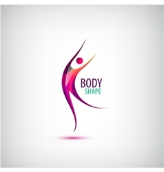 Body shape logo human icon dancing sport vector