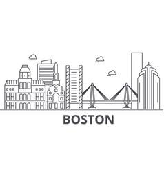 Boston architecture line skyline vector