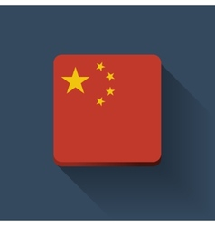 Button with flag of China vector image