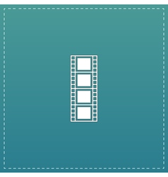 cinematographic film flat icon vector image vector image