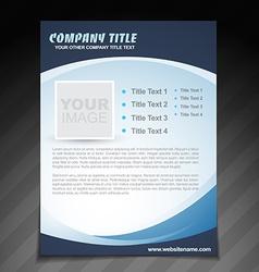 Company flyer brochure design vector