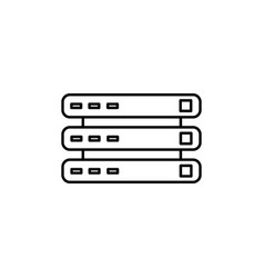 data routers icon vector image