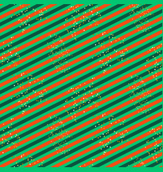 diagonal red and green line pattern with glitter vector image vector image