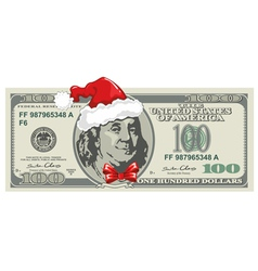 Dollar bill for Christmas vector image