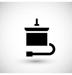 Electric motor icon vector