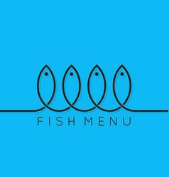 fish menu concept design background vector image vector image