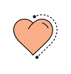 Flat heart icon dots style vector
