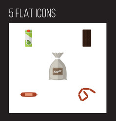 flat icon meal set of sack bratwurst packet vector image vector image