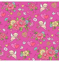 floral pattern valentine vector image vector image