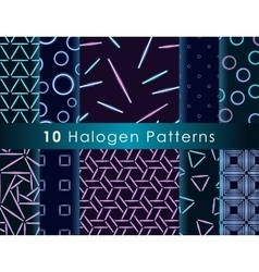 Halogen seamless pattern vector image
