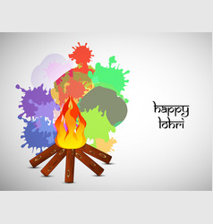 Hindu festival lohri background vector