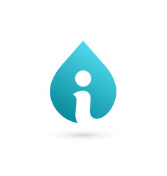 Letter i water drop logo icon design template vector