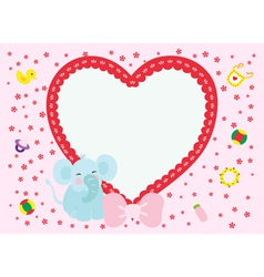 Love elephant new born boy vector