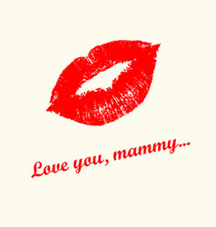 Love you mummy vector