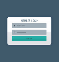 modern login user interface design template vector image vector image