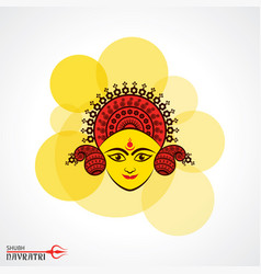 Navratri utsav greeting card vector