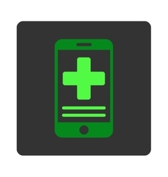 Online medical data flat button vector
