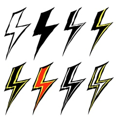 signs of lightning vector image vector image