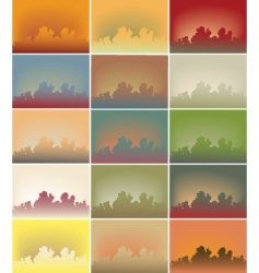 sky vector image vector image