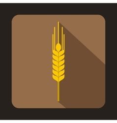 Stalk of ripe barley icon flat style vector image vector image
