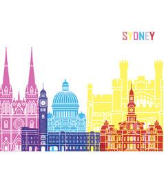 sydney v3 skyline pop vector image