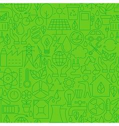 Thin ecology environment line seamless green vector