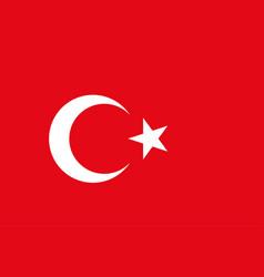Turkish flag background republic of turkey vector