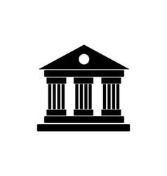 University Icon Isolated on White Background vector image