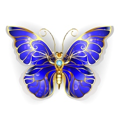Sapphire butterfly vector
