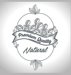 Seal natural product guaranteed vector