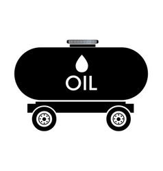Oil tank truck icon vector