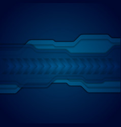 Dark blue abstract technology background vector