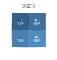 Basic business infographics design template vector