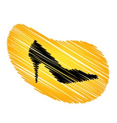 Sketched shoe vector