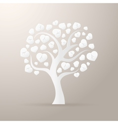 Paper tree icon vector image