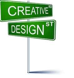 Creative-design direction sign vector