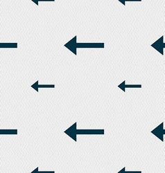 Arrow left way out icon sign seamless pattern with vector