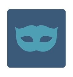 Privacy mask flat cyan and blue colors rounded vector