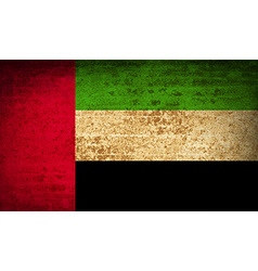 Flags united arab emirates with dirty paper vector