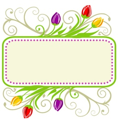 tulips spring frame vector image
