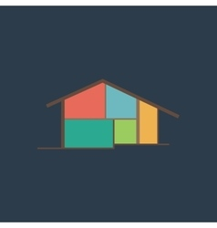 Modern house icon sign and button vector