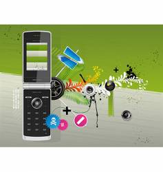 cellular phone vector image