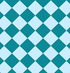 Seamless blue checkered pattern vector