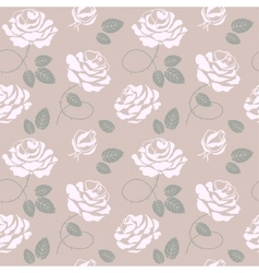 Delicate roses background seamless pattern vector